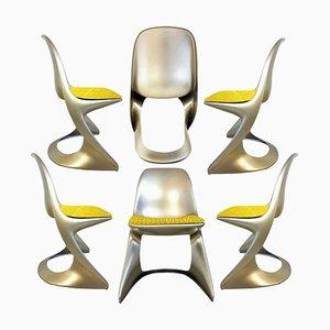 Chaises Space Metallic Age par Ostergaard, 1970, Set de 6