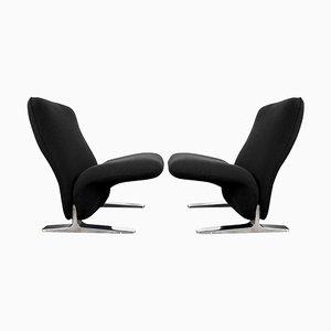 Dutch Kvadrat Polster Lounge Chairs von Pierre Paulin für Artifort, 2er Set