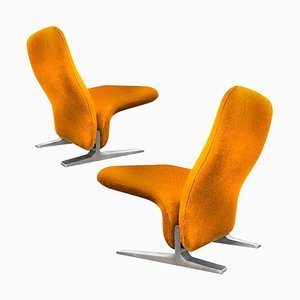 Dutch Kvadrat Upholstery Lounge Chairs by Pierre Paulin for Artifort, 1970s, Set of 2