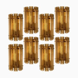 Large Murano Wall Sconce or Wall Light in Glass and Brass