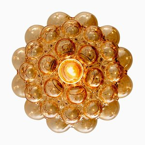 Amber Bubble Glass Pendant Lamp by Helena Tynell