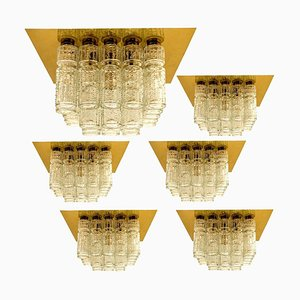 Flush Mount Chandeliers by Boris Tabacoff, 1970s