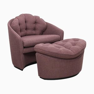 Lounge Chair and Ottoman by Adrian Pearsall, Set of 2
