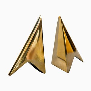 Bookends in Patina & Polish Brass Mix by Carl Auböck, Set of 2