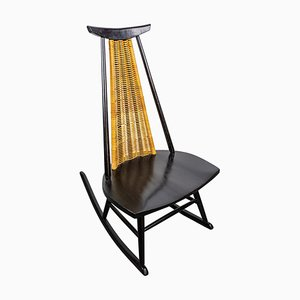 Rocking Chair Dr. No by Ilmari Tapiovaara for Asko, Finland, 1960s