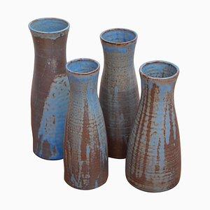 Große Keramikvasen in Blau von Susanne Protzmann, 4er Set