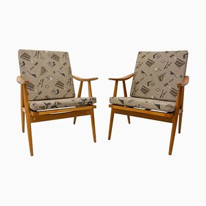 Mid-Century Armchairs by Jaroslav Šmídek for Ton, 1970s, Set of 2