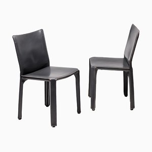 Cab Chairs by Mario Bellini for Cassina, Set of 2