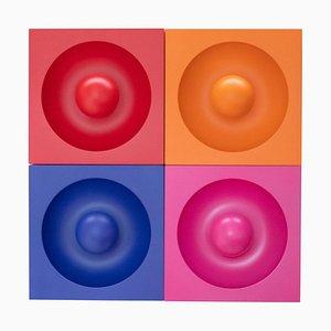 Spiegel Wandlampen von Verner Panton, 4er Set