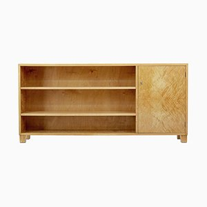 Mid-Century Modern Swedish Birch Low Open Bookcase