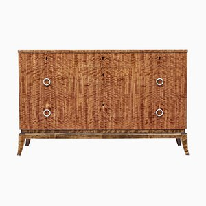Mid-Century Scandinavian Satinwood Chest of Drawers