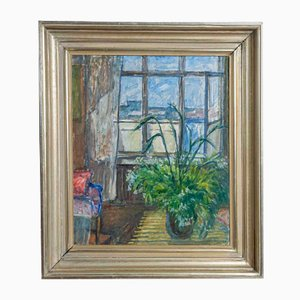 Ölgemälde von Innenansicht und Fenster, 1938