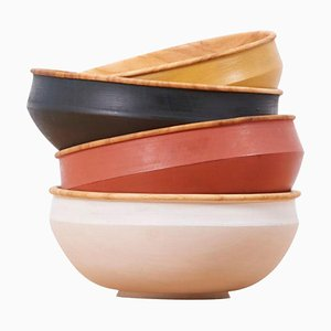 Wooden Bowls by Fabian Fischer, Germany, 2020, Set of 4