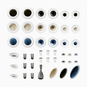 Biscuit Porcelain Set with Hand-poured Glaze by Hering Berlin