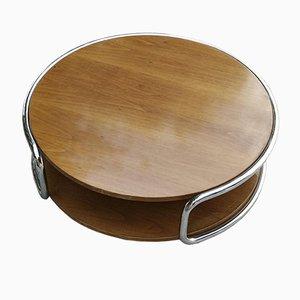 Runder niedriger Tisch mit Rädern