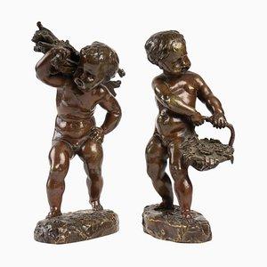 Patinierte Bronzen, 19. Jahrhundert, 2er-Set