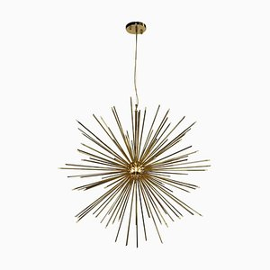 Pendant Light in Brass with Gold-Plated Finish