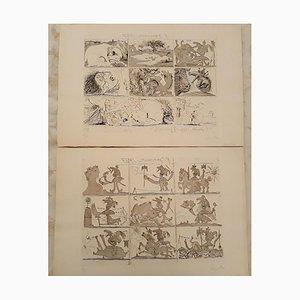 Pablo Picasso - Sueño y mentira de Franco - Aguafuertes y Aguatinta Originales - 1937