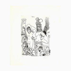Pablo Picasso - 6 de abril de 1968 - Grabado original - 1968