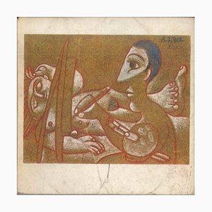 Pablo Picasso - Dessins en noir et couleurs - Catalogue original - 1971