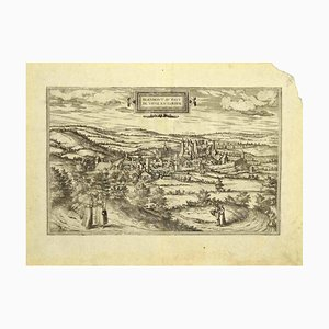 Franz Hogenberg - View of Blanmont - Etching - Late 16th Century