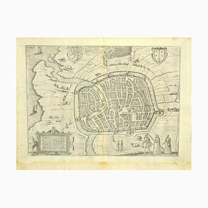 Franz Hogenberg - Vista di Haarlem, Paesi Bassi - fine 1500