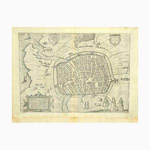 Franz Hogenberg - Vue de Haarlem, Pays-Bas - Fin 1500