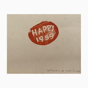Lithographie Kumi Sugai - Happy 1959 - Original 1959