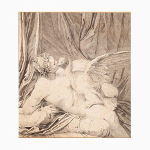 Unknown - Leda and the Swan - Original Etching - 18th Century