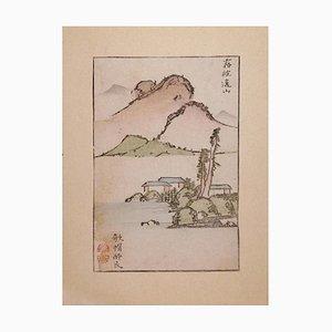 Kameda Bosai - Kyōchūzan - Grabado en madera japonés original - década de 1810