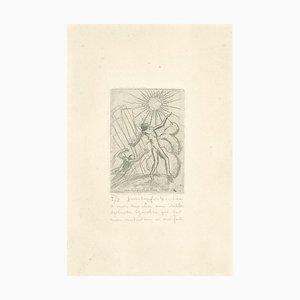 Fabio Failla - le couple - Gravure originale de Jean Ron pour Boubée - Début du XXe siècle