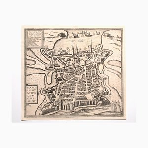Franz Hogenberg - Ansicht von La Rochelle - Radierung - Ende des 16. Jahrhunderts