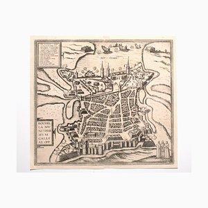 Franz Hogenberg - Vue de La Rochelle - Eau-forte - Fin du XVIe siècle