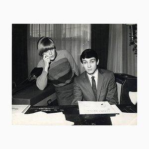 Unbekannt - Gene Pitney und Caterina Caselli - Vintage Photographic Print - 1966