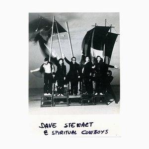 Inconnu - Portrait de Dave Stewart et Cowboys spirituels - Vintage Photo - années 90