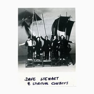 Unknown - Portrait of Dave Stewart and Spiritual Cowboys - Vintage Photo - 1990s