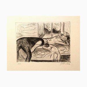 Nazareno Gattamenata - Figure - Gravure originale - Années 1970