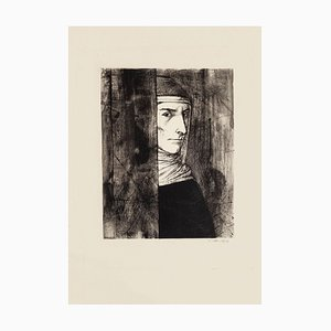 Michel Ciry - Portrait - Original Etching - 1964