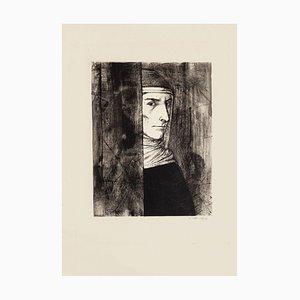 Michel Ciry - Retrato - Grabado original - 1964