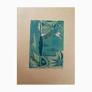 Unknown - Summer Composition - Original Woodcut Print - 1963