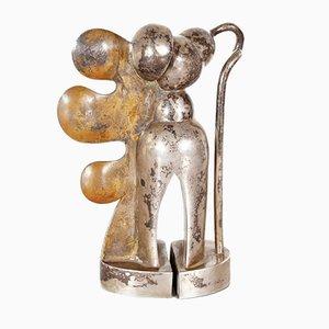 Vintage Brass Sculpture by Cesar Bailleux