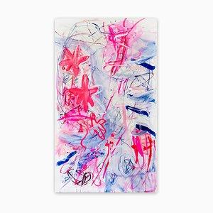 Todos somos fénix, incluso si no lo sabemos, pintura del expresionismo abstracto, 2020