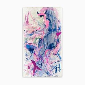 Una vez en el futuro, realmente vemos lo que sucedió, pintura del expresionismo abstracto, 2020