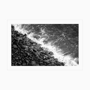 Extra Large Limited Edition Giclée Print of British Pebble Beach, Black & White 2021
