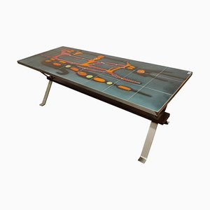 Mid-Century Ceramic Coffee Table by Adri, 1960s