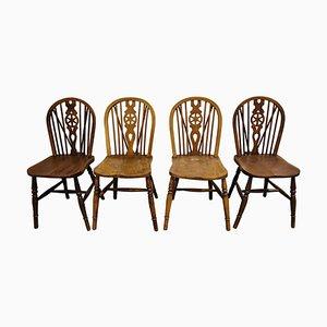 Vintage Esszimmerstühle von Ercol, 1950er Jahre, 4er-Set