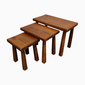 Vintage Brutalist Nesting Tables, 1960s
