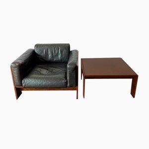 Vintage Bastiano Stuhl & Tisch von Tobia Scarpa, 2er Set
