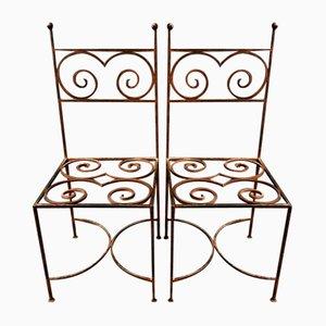 Chaises Vintage en Fonte, Set de 2