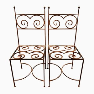 Vintage Stühle aus Gusseisen, 2er Set